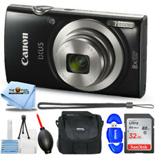 Canon IXUS 185 / ELPH 180 20.0MP Digital Camera (Black) + 32GB + Case Bundle