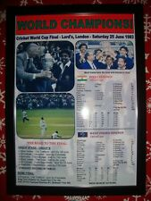 More details for india 1983 icc cricket world cup winners - framed print