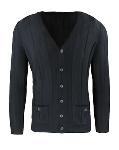 Cardigan Men's Sweater Black Casual Winter Slim Fit Golf Pullover FROM S TO XXL