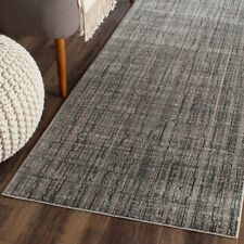 "Grey Safavieh Valencia Power Loomed Polyester Runner 2' 3"" X 8'"
