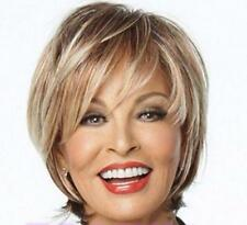 Wigs Fashion Women Party Short Straight Blonde Mixed Natural Synthetic Full Wig.