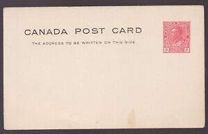 1912-1928  Unused Admiral Two Cent post card. UX33d - superfleas -