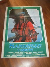 Manifesto 1976 SANDOKAN PARTE 1, KABIR BEDI,SOLLIMA,LEROY ANDRE',CELI