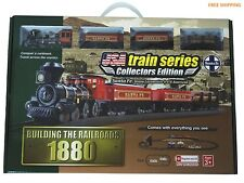 Train Set Vintage Old Time 4-4-0 Santa Fe 1880 Steam Locomotive headlight Boy