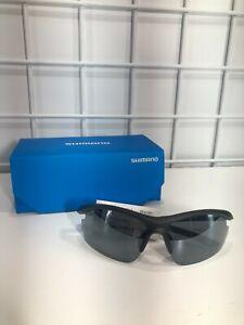 Shimano Sunglasses CE-SLTC1MR Matte Black/ Smoke Silver Mirror New in Box
