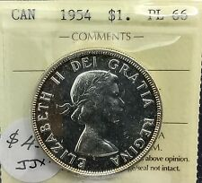 Canada 1954 Silver Dollar PL 66    ICCS  Wonderful Coin