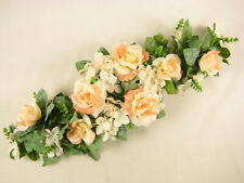 Artificial Flowers Peach Rose Hydrangea Astilbe Table Centrepiece Wedding Car