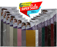 6 Pcs Pack Fitted Sheet 70% off Assorted Colours Single Double King Poly Cotton!
