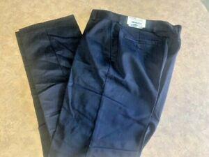 Men's ~EDWARDS Flat Front Chino Dark Navy Utility Pants - 2577 - Size 30x32~ NEW