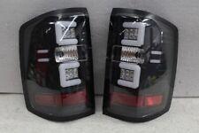 New listing Fits 14-16 Silverado 1500 2500 3500 Neon Tube Bar Led Black Tail Lights Pair Set