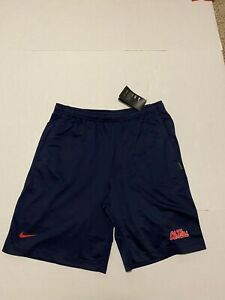 Nike Men's Ole Miss Rebels Dri Fit Coaches Shorts Size: Medium 2019