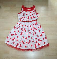 Bluezoo Debenhams Filles Magnifique Rouge Blanc Cerises été/robe de soirée Sz 12 Y