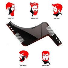 Barba Moldeador Hombres Forma Peine líneas perfectas plantillas de corte NUEVO