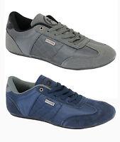 Rawcraft New Men's Fashion Trainers Plain Shoes Plimsolls Latto Grey & Navy Blue