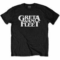 Greta Van Fleet Logo Camiseta Hombre Unisex Original con Licencia Banda Merch