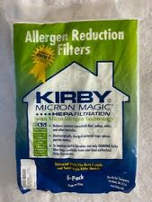 Kirby Vacuum Cleaner Micron Magic (6)ct Bags HEPA Filtration F-style Twist-style
