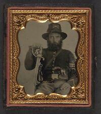 Photo Civil War Union Import Saber & French LeFaucheux Pinfire Revolver