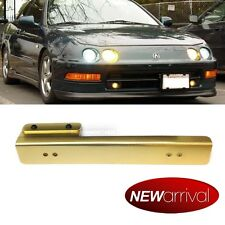 For: Fiesta Front Bumper Aluminum License Plate Relocation Bracket Gold