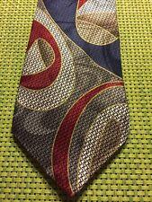 Robert Nipton Red Blue Geometric Classic Wide Silk Mens Neck Tie
