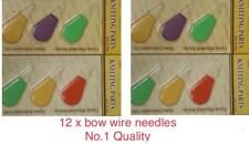 12x BOW WIRE NEEDLE THREADER HAND/SEWING MACHINE STITCH INSERTION TOOL Uk Seller