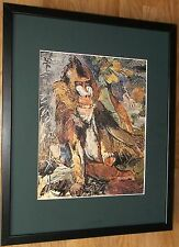Mandrill by Oskar Kokoschka, 20''x16'' frame, Baboon wall art