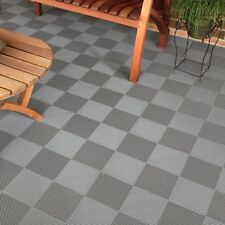 DECK AND PATIO DRAIN FLOOR TILES GRAY   Made In The USA FREE SHIPPING