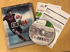 XBOX 360 Fútbol Juego FIFA 14 2014 PAL STEELBOOK Edición Completa