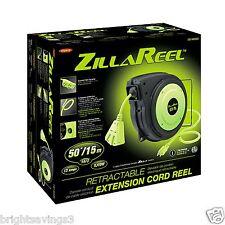 Legacy Flexzilla 50' Retractable 50 ft. Extension Cord Reel E8140503 ZillaReel