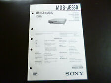 Original Service Manual Schaltplan Sony MDS-JE330