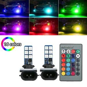2pcs 881 5050 LED Multi-Color RGB Car Headlight Fog Lights Lamp Bulb Accessories