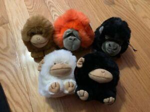 Puffkins - Lot Of 5 - Ape, Monkeys & Orangutan