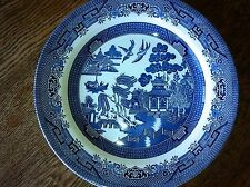 Churchill Willow Blue Dinner Plate England Cobalt Blue Ceramic Dishwasher Safe