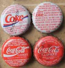 4 Kronkorken  COCA - COLA CANADA  OLD   bottle caps chapas tappi kroonkurk tappo