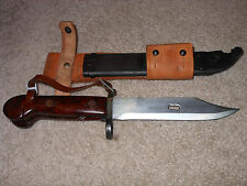 Romanian Cugir Type I Bayonet + Scabbard Knife AK Military Surplus leather frog