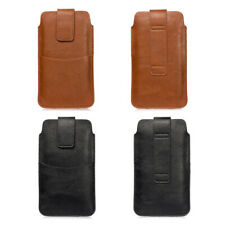 Phone Belt Holster Litch Smartphone Pouch Vertical Case For 6.4inches Cell Phone