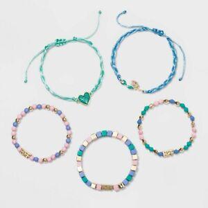 Girls' 5pk Mermaid Bracelet Set - Cat & Jack