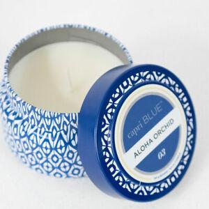 Capri Blue Printed Travel Tin Candle Aloha Orchid 8.5 oz