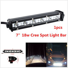7'' 18W WATERPROOF LED COMBO LIGHT BAR OFFROAD DRIVING LAMP WORK FOR SUV