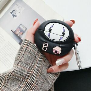 Spirited Away No Face Airpods Pro Protective Cover Case Kaonashi Ghibli Silicone
