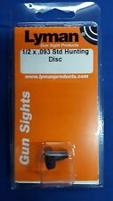LYMAN Sight 1/2 x .093 Hunting Disc - New