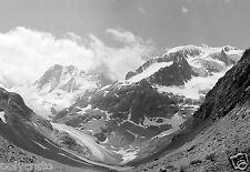 Paysage montagne Alpes neige # 4 - Tirage d'après négatif photo ancien deb. XXe