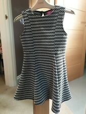 Young Dimension Black And White Geo Print Dress Age 5-6 Years
