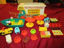 vintage fisher price play family camper