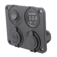 4 IN 1 Car Charger 12-24V 3.1A LED 2 USB jack adapter Car Voltmeter PR O7G1