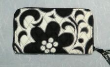 VERA BRADLEY NWT Night & Day Black/White Quilted Full Zip Accordion Wallet sz L