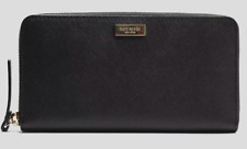 New Kate Spade New York Neda Laurel way Zip Around wallet Leather Black