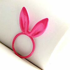 Vintage antique style pink rabbit / bunny ring