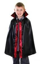 Boys Girls Vampire Cape Halloween Book Week Dracula Costume Outfit 60CM New 6-10