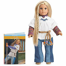 """American Girl JULIE MINI DOLL WITH CLEAR COVER Box 6"""" + Book NEW Hippie Julie's"""