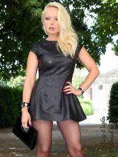 Lederkleid Leder Kleid Schwarz Mini Schwingend Maßanfertigung